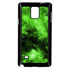 Bright Green Abstract Samsung Galaxy Note 4 Case (black)