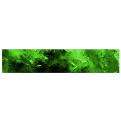 Bright Green Abstract Flano Scarf (small)