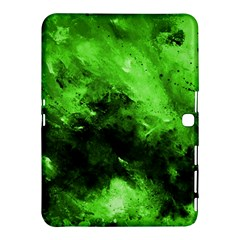 Bright Green Abstract Samsung Galaxy Tab 4 (10.1 ) Hardshell Case