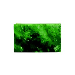 Bright Green Abstract Cosmetic Bag (XS)