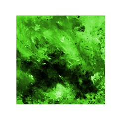 Bright Green Abstract Small Satin Scarf (Square)