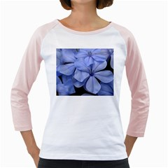 Bright Blue Flowers Girly Raglans