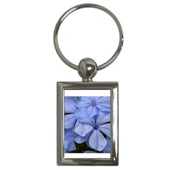 Bright Blue Flowers Key Chains (rectangle)