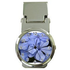 Bright Blue Flowers Money Clip Watches