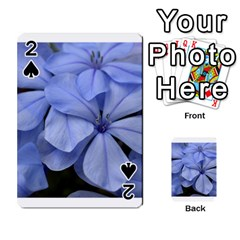 Bright Blue Flowers Playing Cards 54 Designs