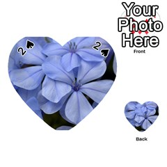 Bright Blue Flowers Playing Cards 54 (heart)