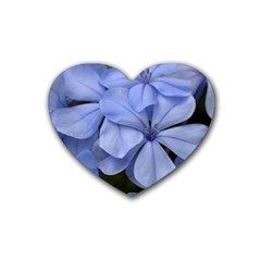 Bright Blue Flowers Heart Coaster (4 Pack)