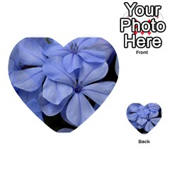 Bright Blue Flowers Multi-purpose Cards (Heart)