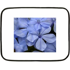 Bright Blue Flowers Double Sided Fleece Blanket (mini)