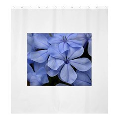Bright Blue Flowers Shower Curtain 66  x 72  (Large)