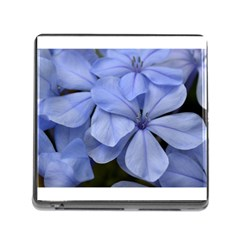 Bright Blue Flowers Memory Card Reader (square)