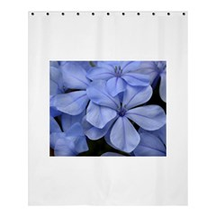 Bright Blue Flowers Shower Curtain 60  x 72  (Medium)