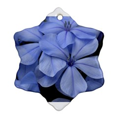 Bright Blue Flowers Snowflake Ornament (2-Side)