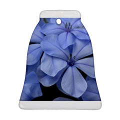 Bright Blue Flowers Bell Ornament (2 Sides)