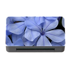 Bright Blue Flowers Memory Card Reader With Cf