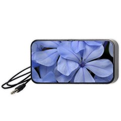 Bright Blue Flowers Portable Speaker (black)