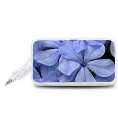 Bright Blue Flowers Portable Speaker (White)