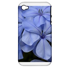 Bright Blue Flowers Apple Iphone 4/4s Hardshell Case (pc+silicone)