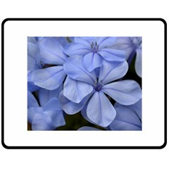 Bright Blue Flowers Double Sided Fleece Blanket (medium)