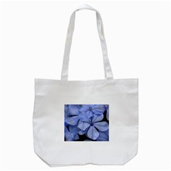 Bright Blue Flowers Tote Bag (White)