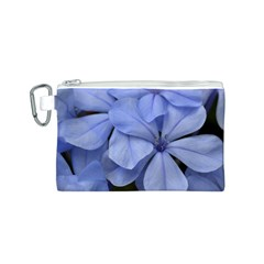 Bright Blue Flowers Canvas Cosmetic Bag (S)