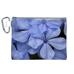 Bright Blue Flowers Canvas Cosmetic Bag (XL)
