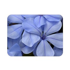 Bright Blue Flowers Double Sided Flano Blanket (Mini)