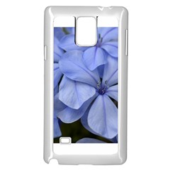 Bright Blue Flowers Samsung Galaxy Note 4 Case (white)