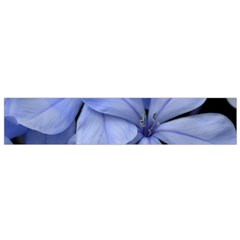 Bright Blue Flowers Flano Scarf (Small)