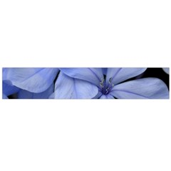 Bright Blue Flowers Flano Scarf (Large)