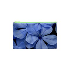 Bright Blue Flowers Cosmetic Bag (XS)