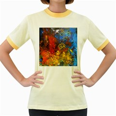 Space Pollen Women s Fitted Ringer T-Shirts