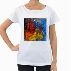 Space Pollen Women s Loose-Fit T-Shirt (White)