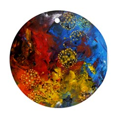 Space Pollen Round Ornament (two Sides)