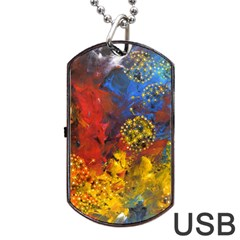 Space Pollen Dog Tag USB Flash (Two Sides)