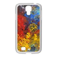 Space Pollen Samsung Galaxy S4 I9500/ I9505 Case (white)