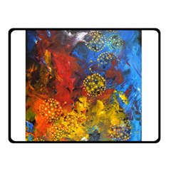Space Pollen Double Sided Fleece Blanket (Small)