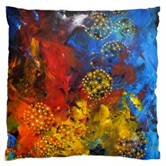 Space Pollen Large Flano Cushion Cases (one Side)