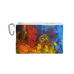 Space Pollen Canvas Cosmetic Bag (S)