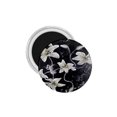 Black And White Lilies 1 75  Magnets