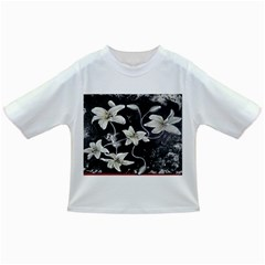 Black and White Lilies Infant/Toddler T-Shirts