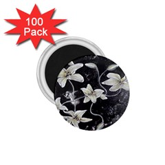 Black And White Lilies 1 75  Magnets (100 Pack)