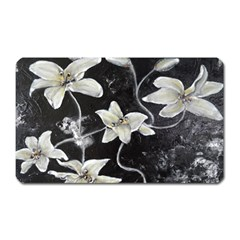 Black And White Lilies Magnet (rectangular)
