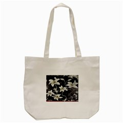Black and White Lilies Tote Bag (Cream)
