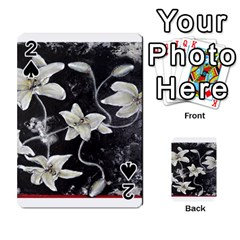 Black and White Lilies Playing Cards 54 Designs