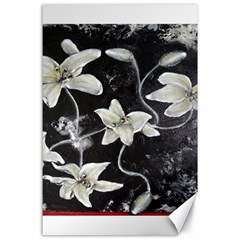 Black And White Lilies Canvas 24  X 36