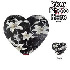 Black and White Lilies Playing Cards 54 (Heart)