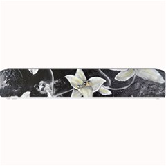 Black and White Lilies Small Bar Mats