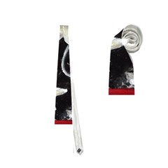 Black and White Lilies Neckties (One Side)