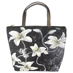 Black And White Lilies Bucket Bags